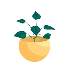 House plant in a pot icon cartoon style vector