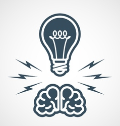Intellectual property - power of mind and ideas vector