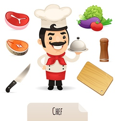 male chef set vector image