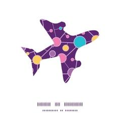 Molecular structure airplane silhouette pattern vector