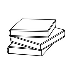 outline books icon schools supplies isolated vector image