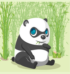 Panda baby cute cartoon character vector