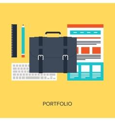 Portfolio vector image vector image