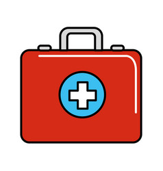 red first aid kit emergency vector image vector image