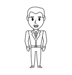retro man cartoon vector image