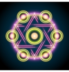 Sacred geometry abstract vector image