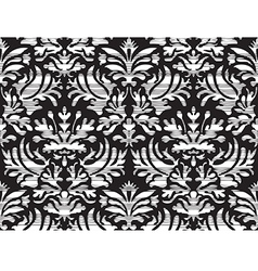 Seamless abstract floral damask background striped vector image vector image