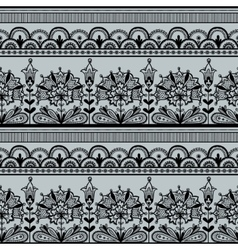 Seamless Black Lace Pattern vector image vector image