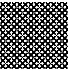 seamless pattern floral dotted geometric texture vector image