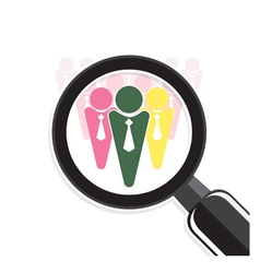 Search for an employee vector image
