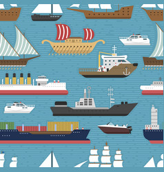 Ship cruiser boat sea vessel travel industry vector