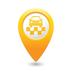 Taxi symbol map pointer yellow vector
