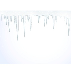 The icicles vector image