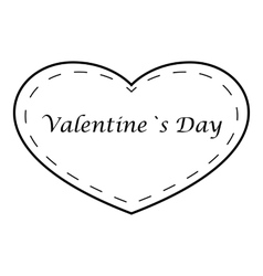 Valentines day icon outline style vector
