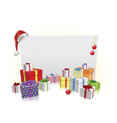 Christmas presents and sign concept vector