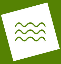 Waves sign   white icon vector