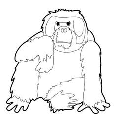 Orangutan icon outline vector