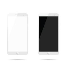 Mobile phone set design vector