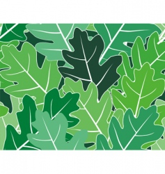 Spring oak leaves seamless texture vector