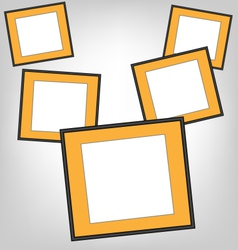 Orange frames on grayscale vector