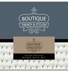 Logo clothing made of fur and leather the texture vector
