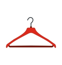 Red coat hanger flat icon vector