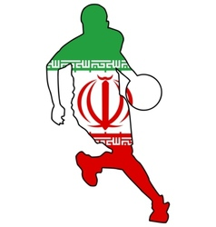 basketball colors of Iran vector image