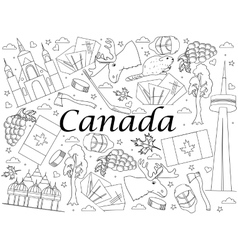 Canada coloring book vector