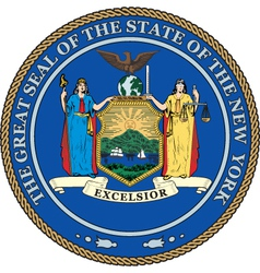 New York State Seal vector image