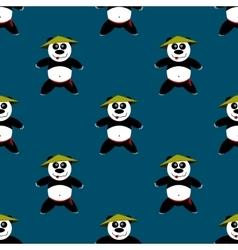 Seamless pattern Panda vector image