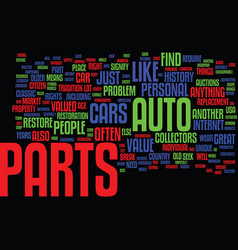 Auto parts how do i find the rare ones text vector