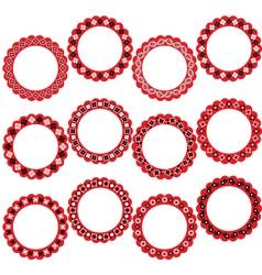 bandana circle frames vector image vector image