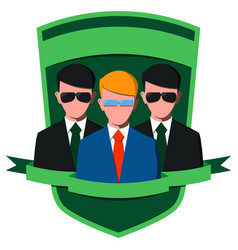 businessman with body guards vector image