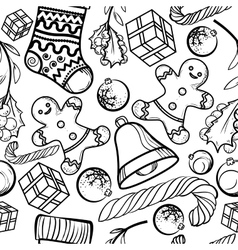 Christmas toy pattern vector image vector image
