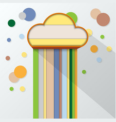 colorful and cloud symbol flat design vector image vector image