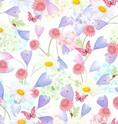 delicate floral design on the white background vector image vector image
