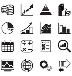 Diagram and graphs icons set vector