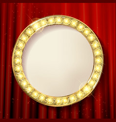 empty golden painting round frame vector image