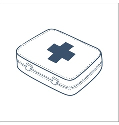 First aid kit isolated on white vector image vector image