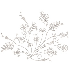 Floral ornament flower pattern vector image vector image