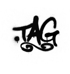 graffiti tag sprayed with leak in black on white vector image vector image