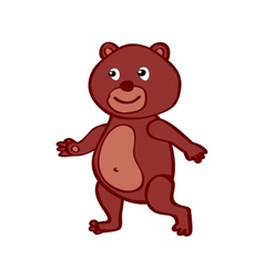 Hand-drawn cartoon wild bear vector