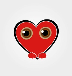 Heart Face Happy Emoticon vector image