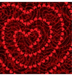 heart shapes background vector image vector image
