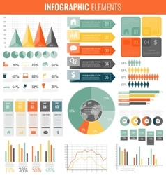 Infographic Elements Collection Flat design vector image vector image