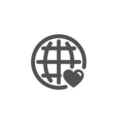 International love simple icon heart symbol vector