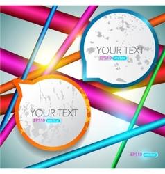modern speech bubbles vector image vector image