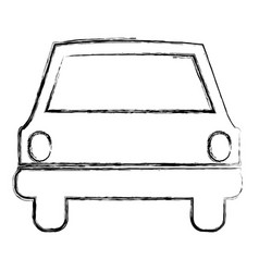 Monochrome sketch of automobile front vector