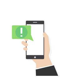 Phone alert notification vector