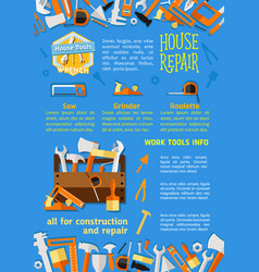 poster of house repair work tools vector image